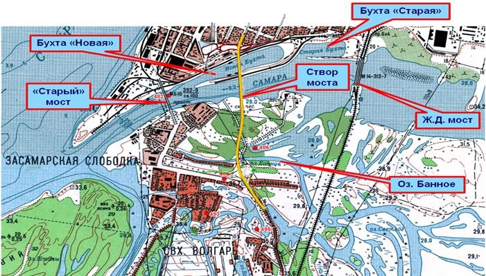 Карта-схема Фрунзенского моста